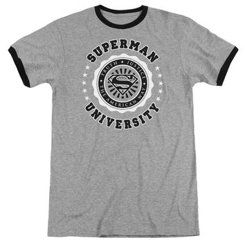 Superman - Superman University Adult Ringer