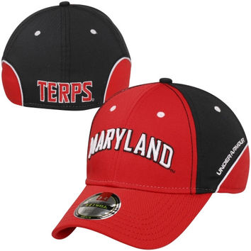 Maryland Terrapins Sideline Flex Hat - Red/Black
