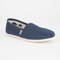 TOMS Womens Canvas Classic Slip-Ons | Casuals & Flats