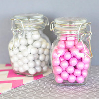Swing Top Jars Small 5 Set - Wedding Favors Party Favor - DIY - Baby Shower Bridal