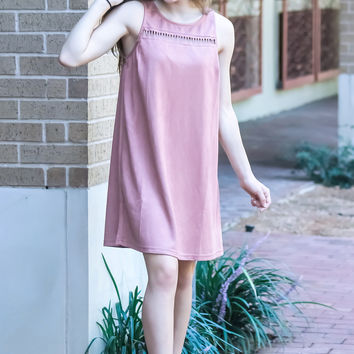 Sway with Me Suede Dress