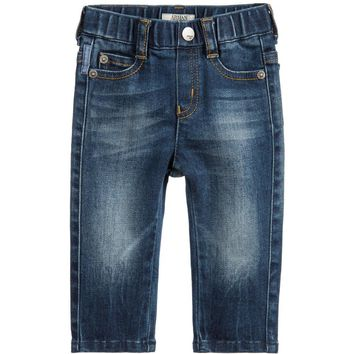 Armani Baby Boys Blue Denim Jeans