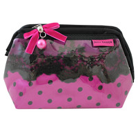 "Polka Dot Romance Wired Cosmetic Bag 8""""X4.75""""X1"""" Hot Pink: Hot Pink"