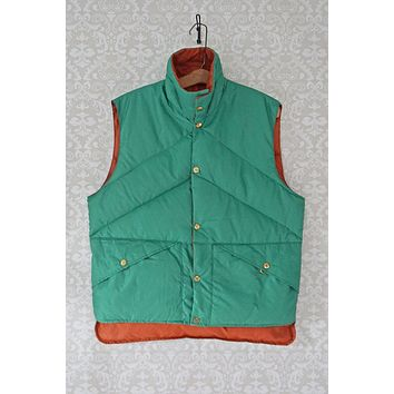 Vintage 1970s Reversible + Outdoorsman Down Vest