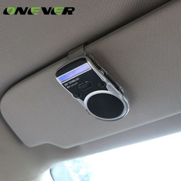 Universal Solar Car Bluetooth Speakerphone Hands-free Calling Car Kit Sunvisor In-car Speaker Player Support Call Number Record