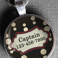 Black and Red Pet Tag #ST7658