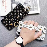 LV Louis Vuitton New fashion print wrist band couple  protective cover phone case