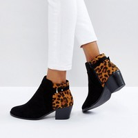 Head Over Heels Pascalle Leopard Print Ankle Boots at asos.com