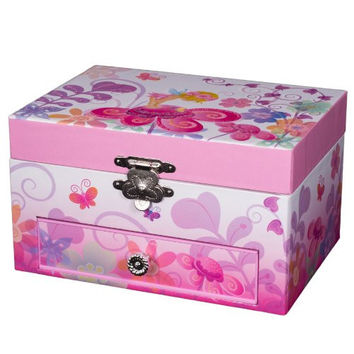 Mele Ashley Musical Dancing Ballerina Jewelry Box - 7.8W x 3.3H in.