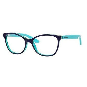 Carrera - Carrerino 50 49mm Blue Lime Green Eyeglasses / Demo Lenses