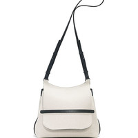THE ROW Sideby Canvas Shoulder Bag, Natural/Black