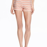 """Old Navy Womens Striped Clean Front Shorts 4"""""""