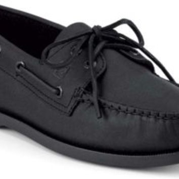 Sperry Top-Sider Authentic Original 2-Eye Boat Shoe Black, Size 12W  Men's Shoes