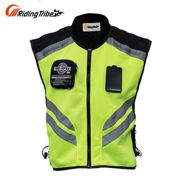 Trendy Riding Tribe Motorcycle Jacket Summer Reflective Safety Clothing Racing Vest Moto Motorbike Safety Security Reflective Vests AT_94_13