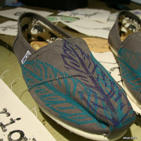 Feather TOMS Shoes three by themattbutler on Etsy