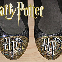 Harry Potter glitter flats shoes