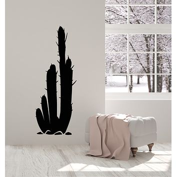 Vinyl Wall Decal Big Cactus Plant Desert Nature Landscapes Decoration Stickers Mural (g613)