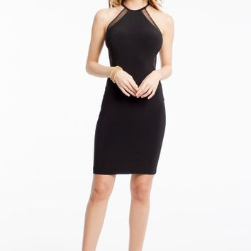 Jersey Dress with Illusion Cut Out Back
