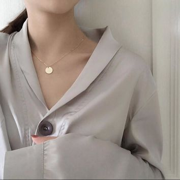 Jewelry Gift New Arrival Shiny Stylish Environmental Ladies Alloy Necklace [10412391444]