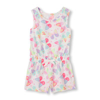 Toddler Girls Sleeveless Printed Romper | The Children's Place