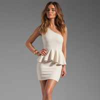 One Shoulder Falbala Bodycon Sexy Dress