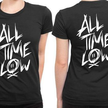 MDIG1GW All Time Low Title 2 Sided Womens T Shirt