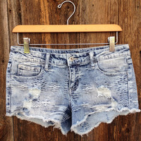 Aztec Jacquard Denim Shorts - FINAL SALE