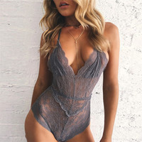 On Sale Sexy Cute Hot Deal Hot Sale Summer Women's Fashion Lace Spaghetti Strap One-piece Exotic Lingerie [9724807555]