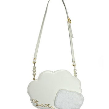 Milky Cloud Shoulder Bag - White [182BG02-180103-wh] - $108.00 : Angelic Pretty USA