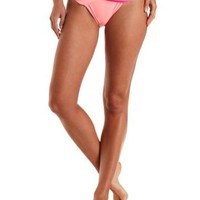 Color Block Wrap Bikini Bottoms by Charlotte Russe
