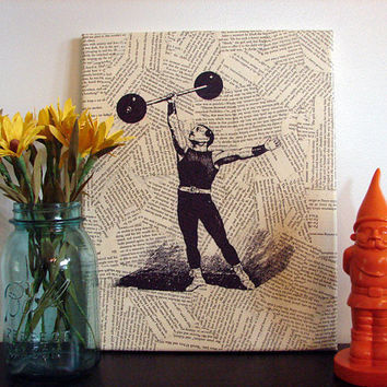 Canvas Wall Art Vintage Body Builder / Strong Man on by Stoic