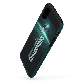 For All Models Philadelphia Eagles Champs Iphone/Galaxy Phone Tough Cases | Custom Phone Case Midnight Green