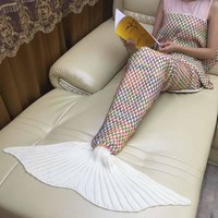 Mermaid Tail Throw Blanket for Adults