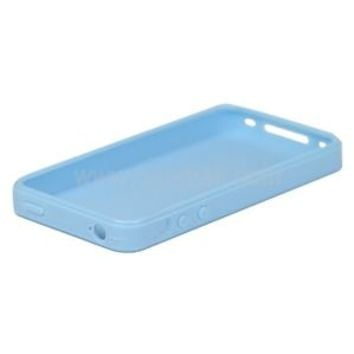 iphone 4/4s case baby blue TPU NEW GLOSSY EXCELLENT apple soft silicone