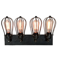 Vintage Industrial Cage Wall Lamp Retro Iron Wall Sconces - hallway wall light- living room wall sconce- rustic wall light- bathroom wall