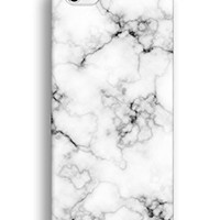 iPhone 6 Plus Case, CaseCarnival White Marble Print iPhone 6 Plus Cases - Custom Case for iPhone6 Plus 5.5 inches