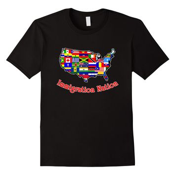 IMMIGRATION NATION Graphic T-shirt