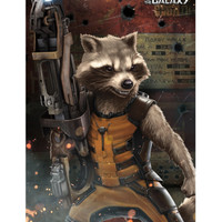 Marvel Guardians Of The Galaxy Rocket Raccoon Poster