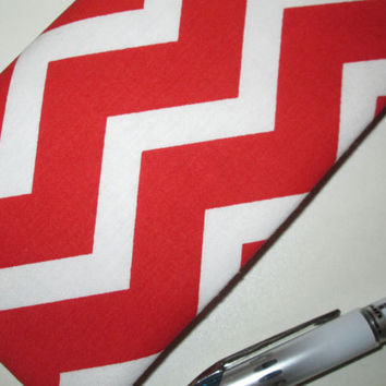 Red and White Chevron Checkbook Cover for Women, Chevron Accessories, Checkbook Holder, Checkbook Case