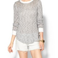 Piperlime | Mineral Melange Loose Knit Sweater