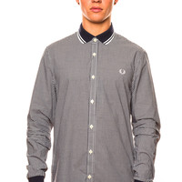 Fred Perry Gingham Knitted Collar Shirt