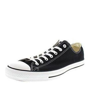 VONR3I Unisex Black Converse Chuck Taylor All Star Low Top Classic Black Sneakers - 7.5 B(M)