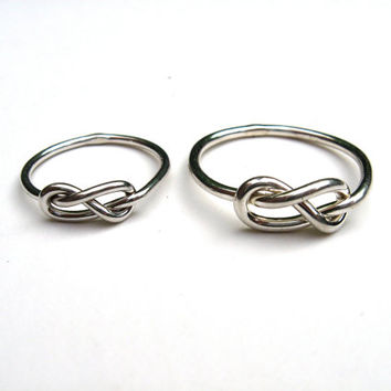 Infinity Love Knot Rings Sterling His and Hers Matching Rings