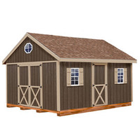 Shop Best Barns Easton with Floor Gable Engineered Wood Storage Shed (Common: 12-ft x 20-ft; Interior Dimensions: 11.42-ft x 19.42-ft) at Lowes.com