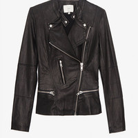 IRO EXCLUSIVE Leather Jacket: Black-Jackets + Outerwear-Clothing-Categories- IntermixOnline.com