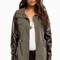 Up In Army Contrast Jacket $72
