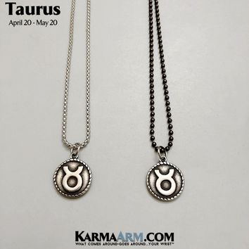 TAURUS Necklace | Zodiac | Astrology Collection: Stainless Steel | Birth Sign Jewelry