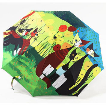 Kitty Family Sun-Rain 3 Fold Umbrella CP153338