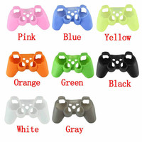 Silicone Protective Shell Case Cover Skin For Sony PS2 PS3 Controller Gaming Controller Accessories