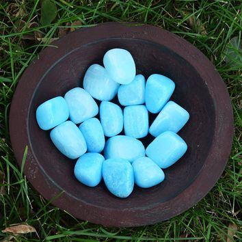 BLUE ARAGONITE Anxiety Relief Stone, Water Element Pisces Zodiac Mermaid Crystal
